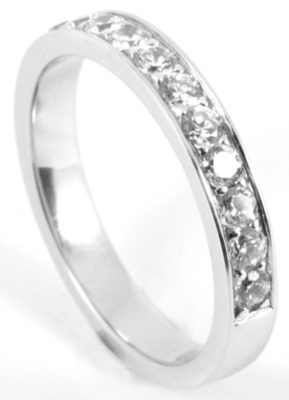 Platinum or Gold Half Eternity Diamond Wedding Ring